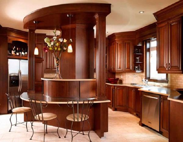 Tủ bếp gỗ Đỏ